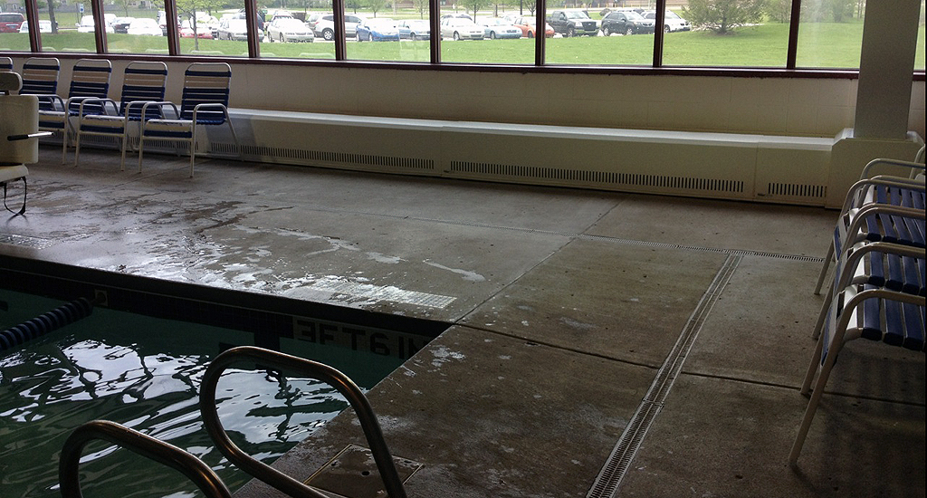 Indy Island Aquatic Center Paddock Evacuator Indoor Pool Air Quality Experts